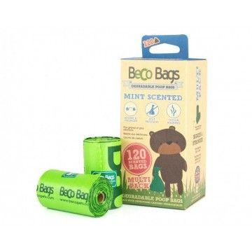 BecoBags Mint 8 rollos x 15 bolsas (120 total)