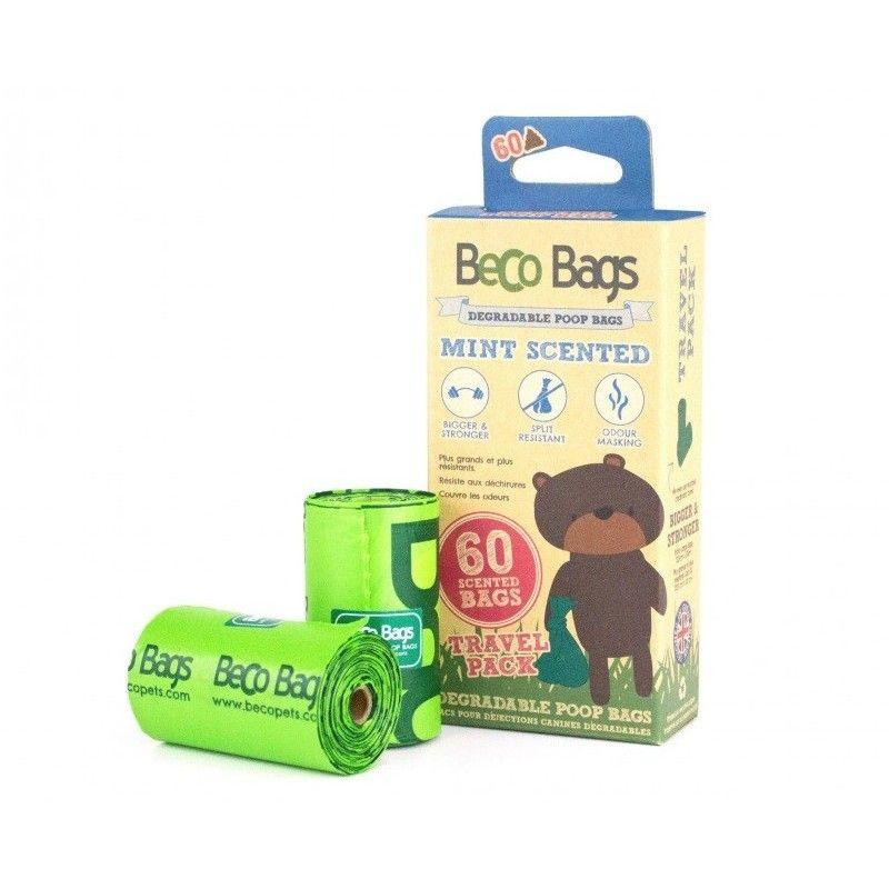 BecoBags Mint 4 rollos x 15 bolsas (60 total)