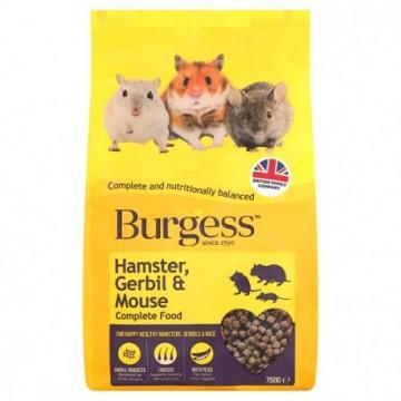 Burgess Hamster, Gerbil & Mouse Complete 750 gr