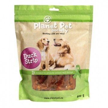 Planet Pet Snacks Tiras Pato 400gr