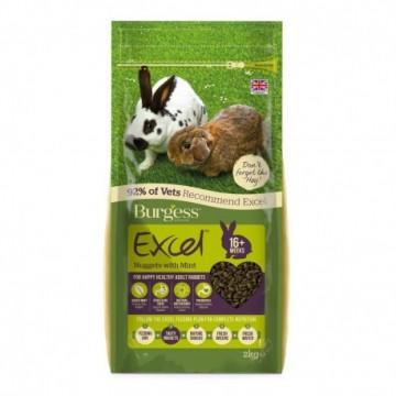 Burgess Excel Conejo Adult con Menta 2Kg