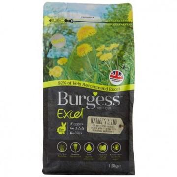 Burgess Excel Conejo Adult Hierbas Naturales  1,5Kg
