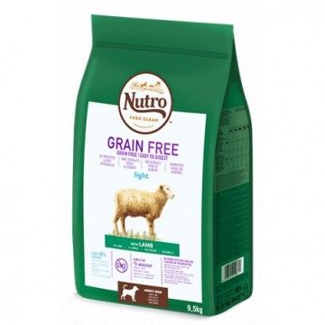 Nutro Grain Free Adult Light Cordero 9,5kg