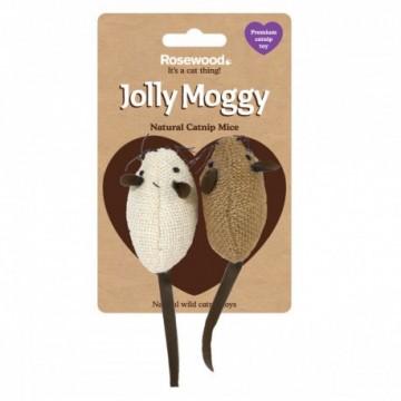Rosewood Gato Jolly Moggy 2 Ratones Tela con Catnip