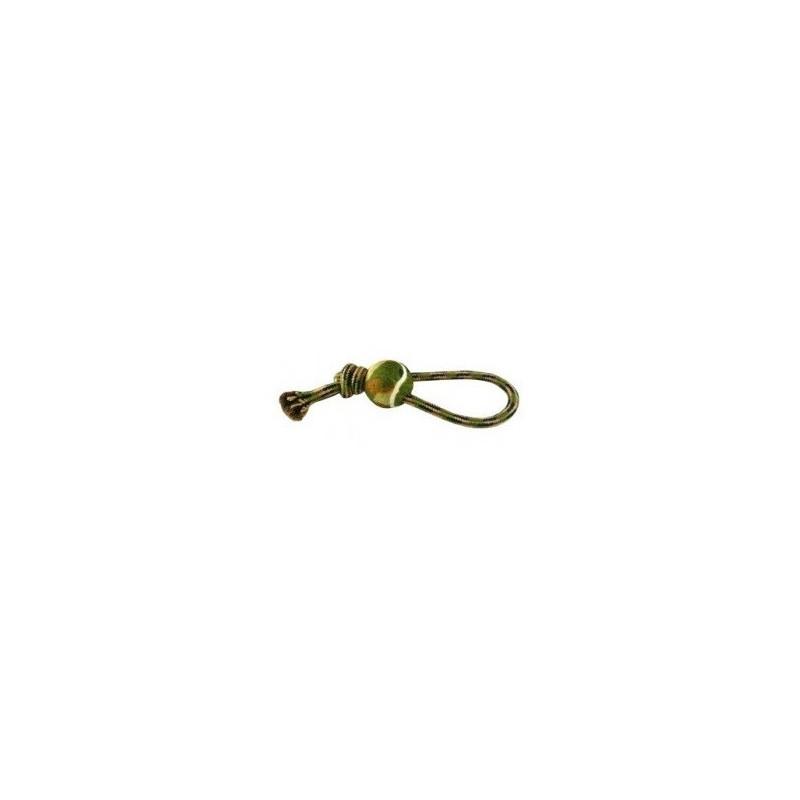 Camuflaje Cuerda Nudo con Pelota Tenis, 38cm