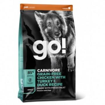 GO! CARNIVORE Grain Free Chicken, Turkey + Duck Adult Dog 1,6kg