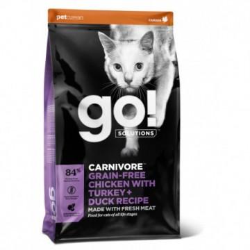 GO! CARNIVORE Grain Free Chicken, Turkey + Duck Cat 1,4kg