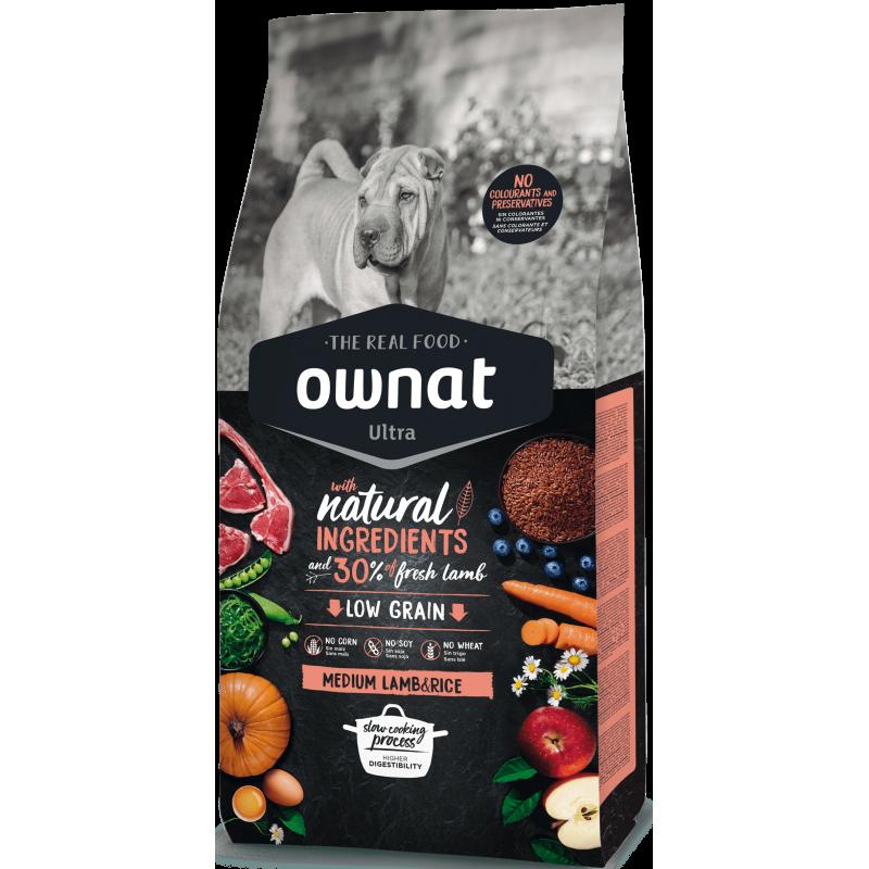 Ownat Ultra Medium Lamb & Rice 14 kg