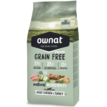 Ownat Prime Grain Free Adult Chicken & Turkey 14 kg