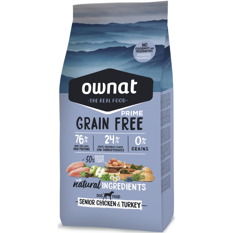 Ownat Prime Grain Free Senior Chicken & Turkey 14 kg