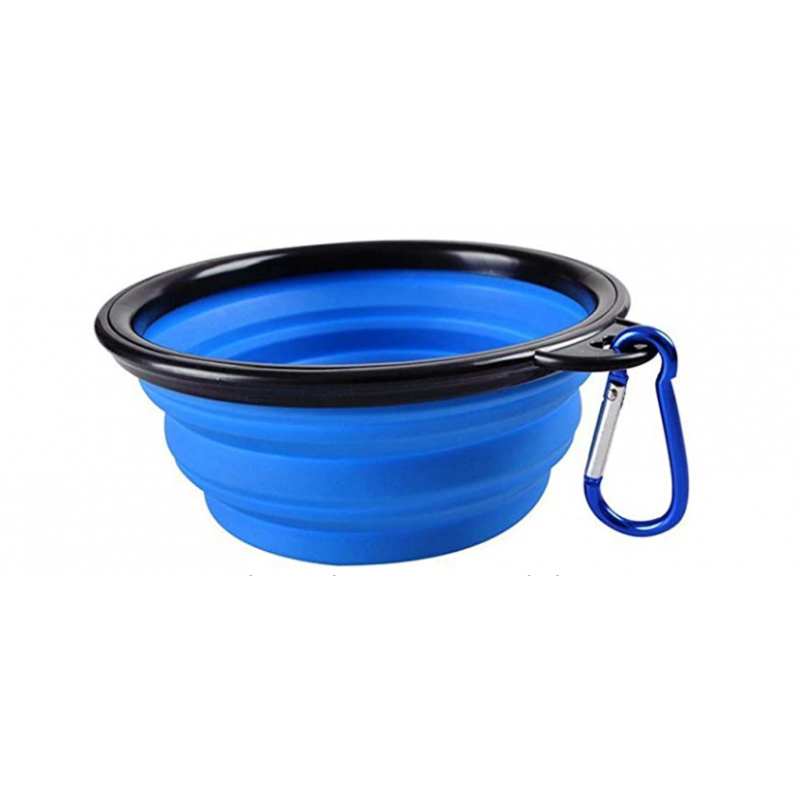 Comedero portátil color azul