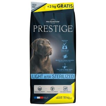Flatazor Prestige Adult Light & Sterilized 15 + 3Kg
