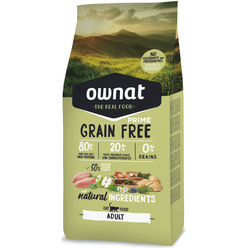 Ownat Cat Prime Grain Free Adult Chicken & Turkey 8 kg
