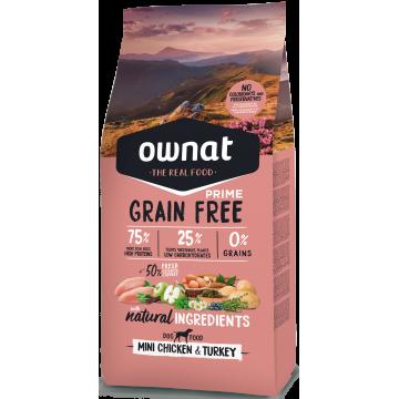 Ownat Prime Grain Free Mini Adult Chicken & Turkey 3 kg