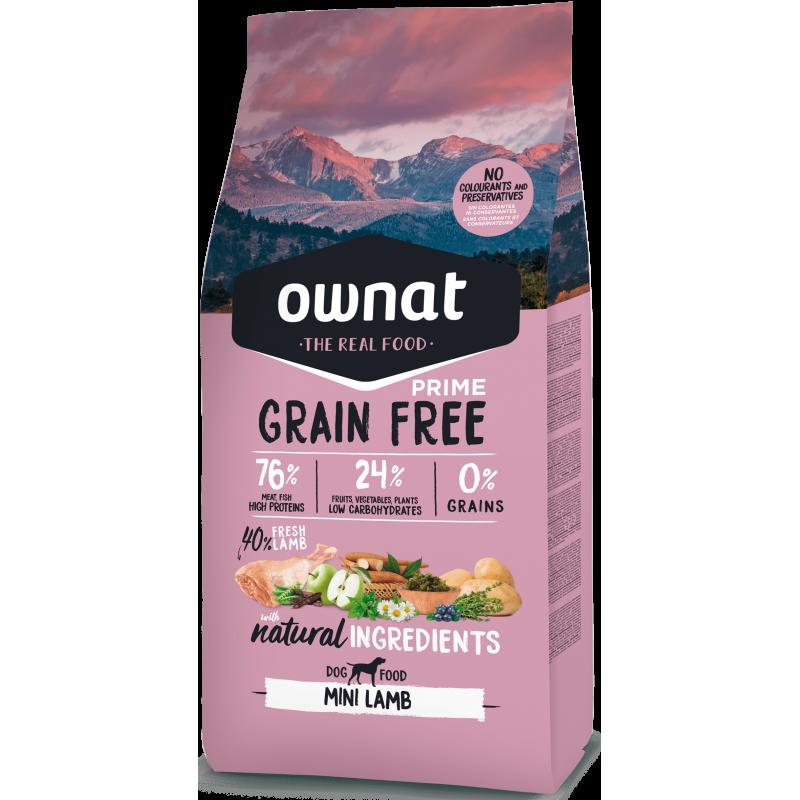 Ownat Prime Grain Free Mini Adult Lamb 3 kg