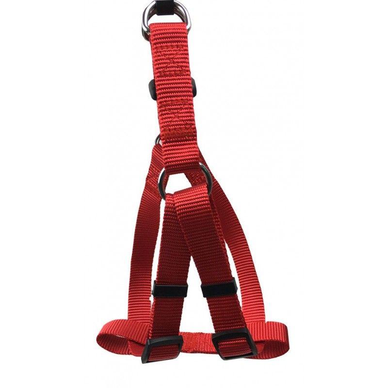 Arnés regulable en nylon rojo L