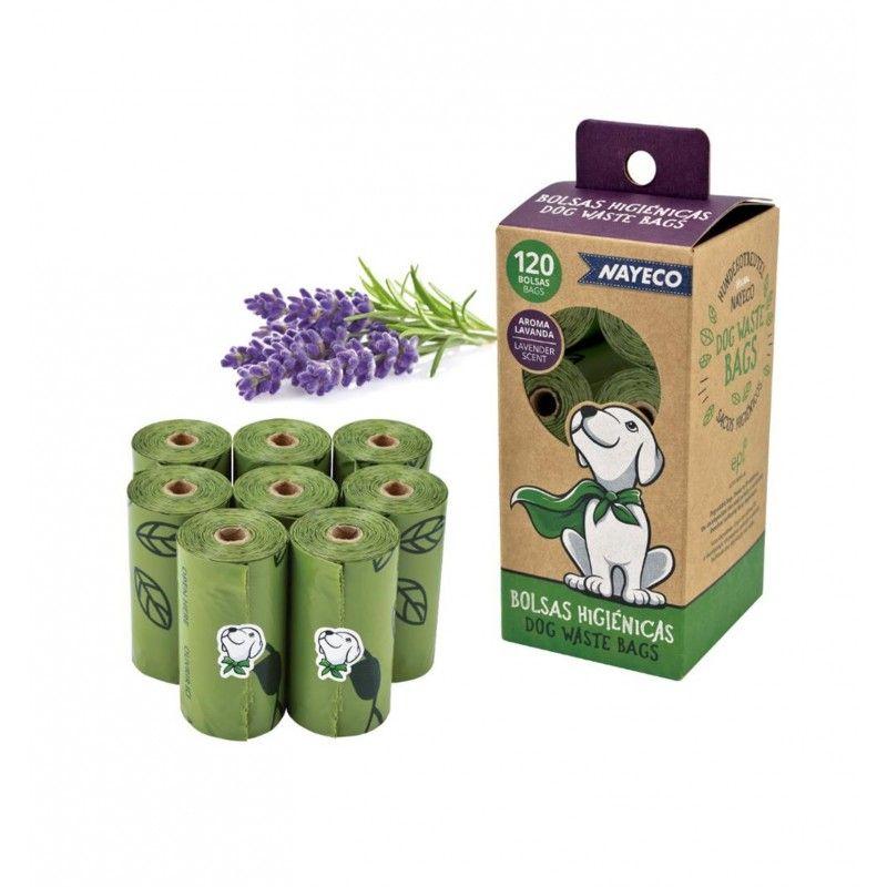 Pack 120 Bolsas Higiénicas con Aroma a Lavanda Nayeco
