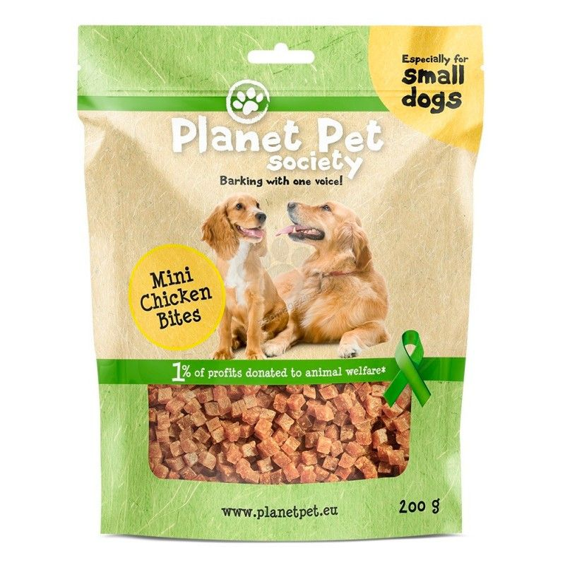Planet Pet Snack Mini Bites de Pollo 200gr