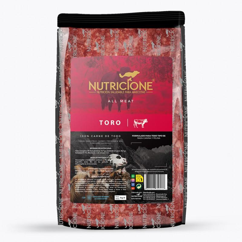 Dieta Barf Nutricione All Meat de Toro