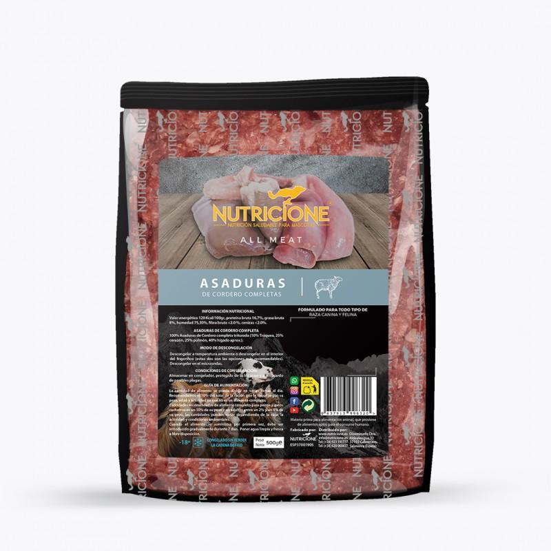 Dieta Barf Nutricione Todo Carne Asaduras de Cordero