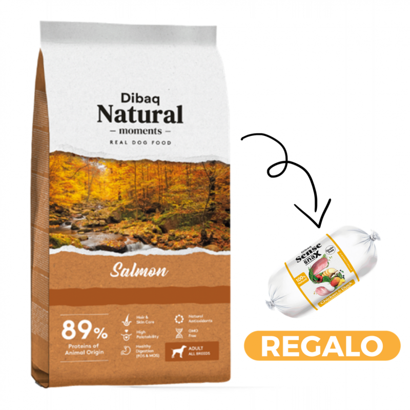 Dibaq Natural Moments Salmon + salchicha