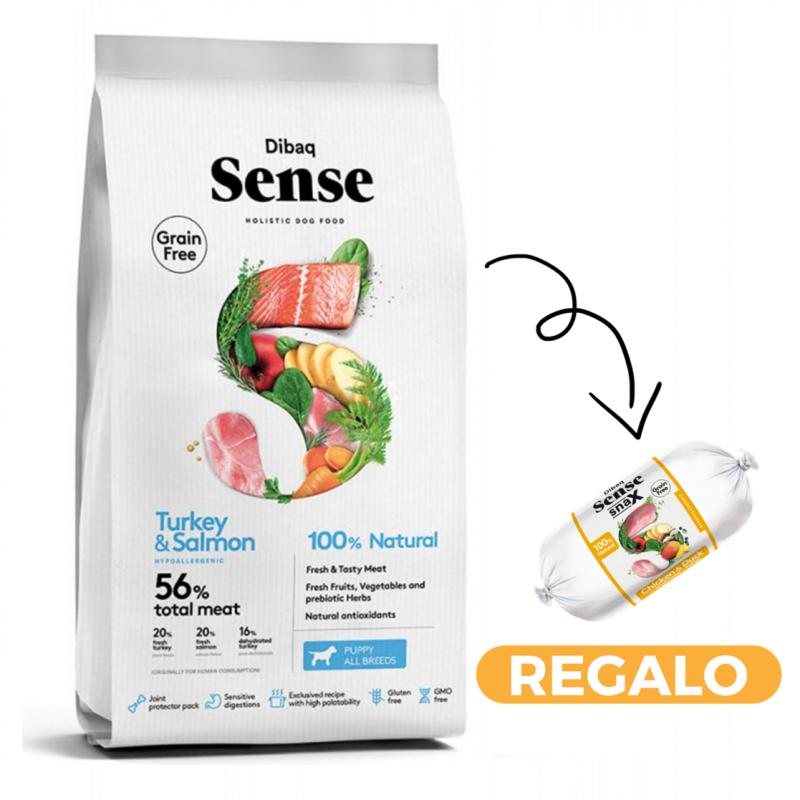 Dibaq Sense Salmon & Pavo (Puppy) + salchicha
