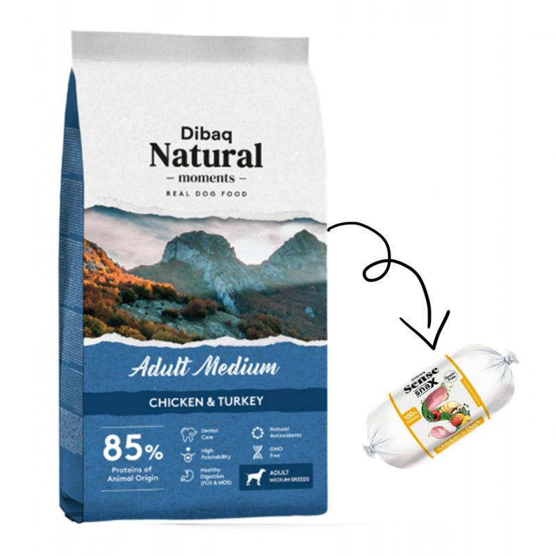 Dibaq Natural Moments Adult Medium + salchicha