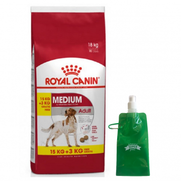 Royal Canin Medium Adult + BOTELLITA PLEGABLE GRATIS