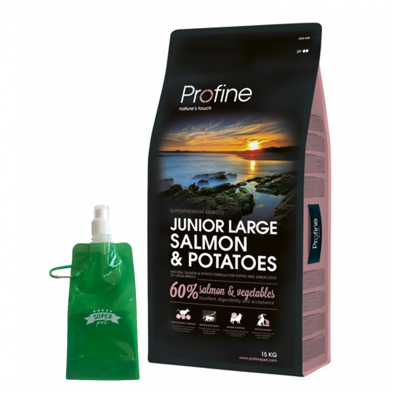 Profine Junior Large Salmón + BOTELLITA PLEGABLE GRATIS