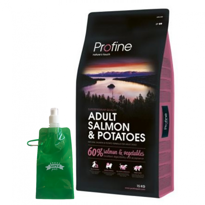 Profine Adult Salmon + BOTELLITA PLEGABLE GRATIS