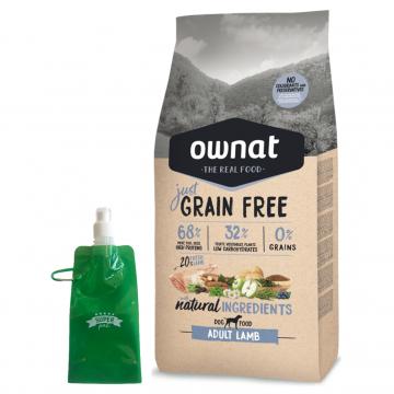 Ownat Just Grain Free Adult Lamb + botella plegable gratis