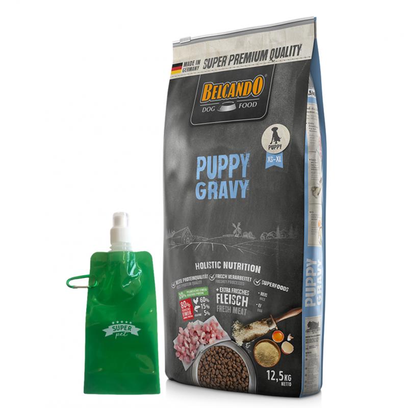 Belcando Puppy Gravy + botella plega ble gratis