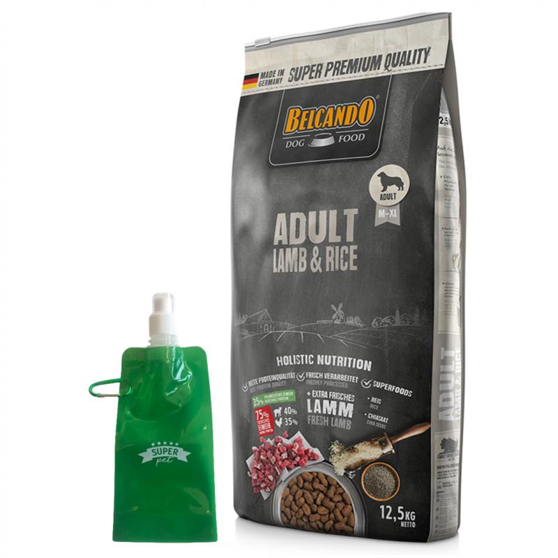 Belcando Adult Lamb & Rice + botella plegable gratis