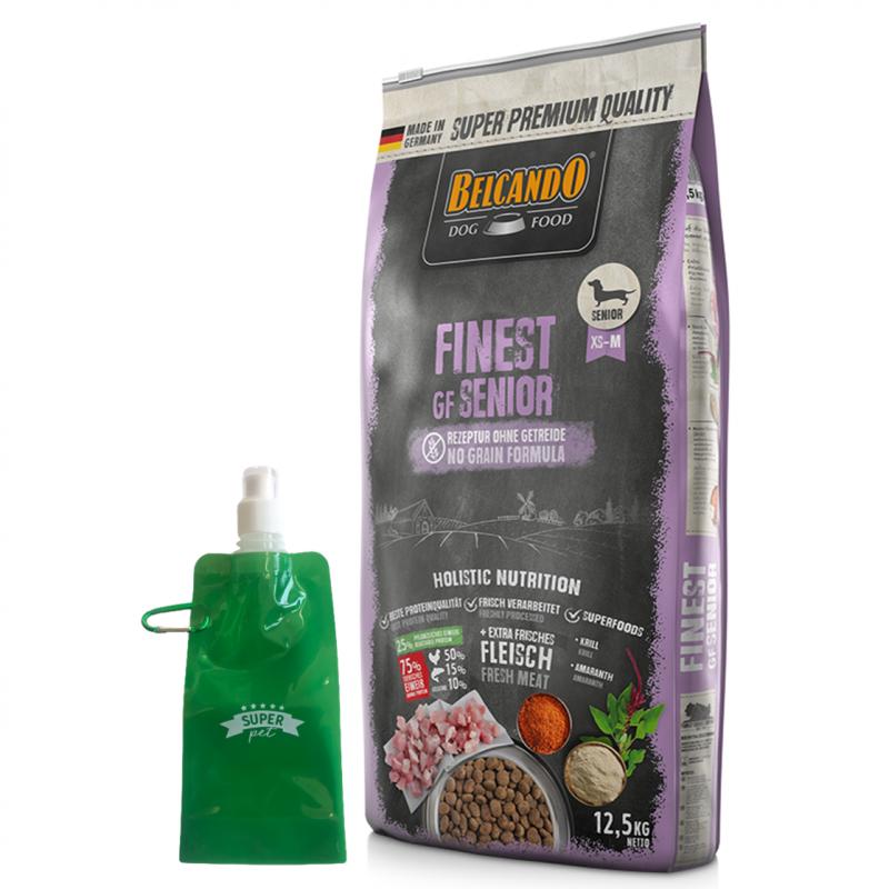 Belcando Finest Grain Free Senior + botella plegable gratis