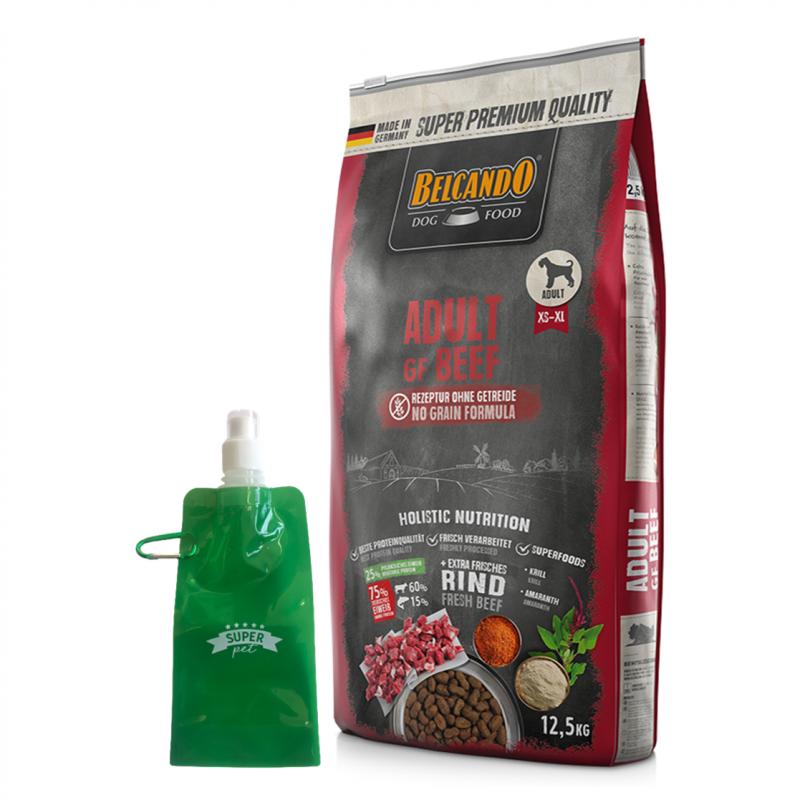 Belcando Adult Grain Free Beef + botella plegable gratis