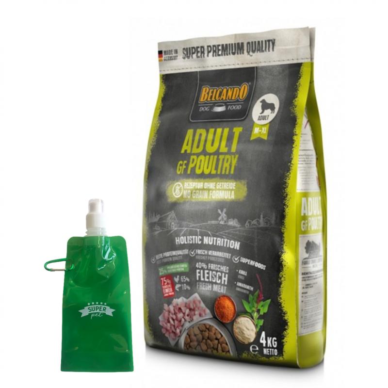 Belcando Adult Grain Free Poultry + botella plegable gratis