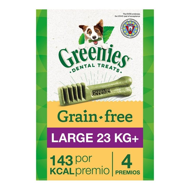 Greenies Snacks Dentales Grain Free  large bolsas  170g