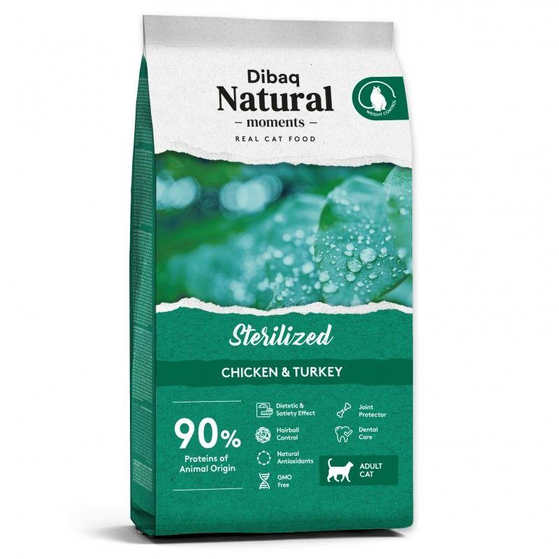 Dibaq Natural Moments Gatos Esterilizados Pavo y Pollo 2 kg