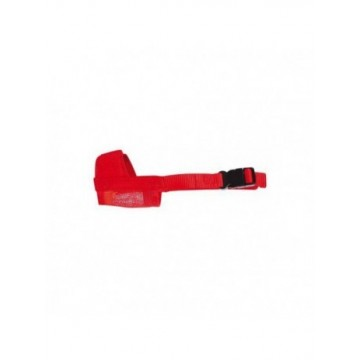 Bozal Nylon Rojo M 16-18cm