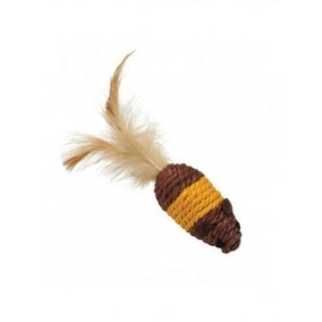 Natural Ratones de cuerda y plumas marron y Naranj