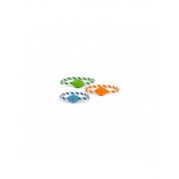 N Mordedor aro de cuerda azul-naranja-verde