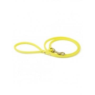 Correa cordon de cuero Amarillo 0.9x120cm
