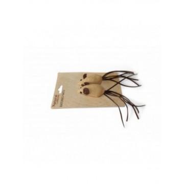 Natural Blister 2 ratones cuerda 14cm