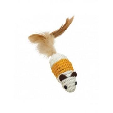 Natural Ratones de cuerda y plumas Beige y Naranja