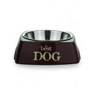 Comedero Best Dog melamina marrón Talla XL