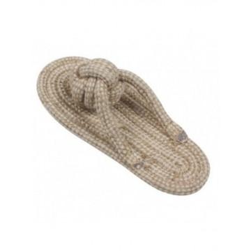Natural Zapatilla de cuerda 17x7cm