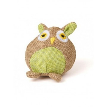 Natural juguete de gato Buho 8x5 cm