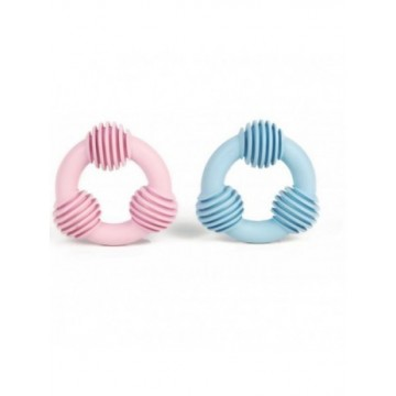 Anillo dental de goma Puppy azul o rosa 8cm