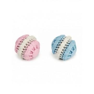 Pelota dental goma azul o rosa 6 cm
