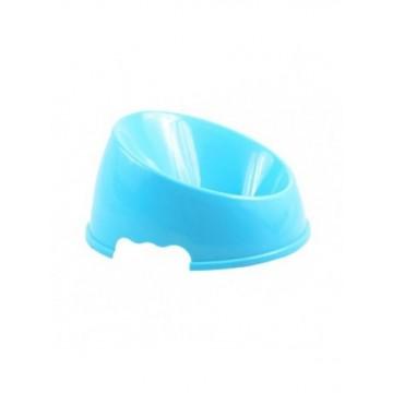 Comedero de plástico azul